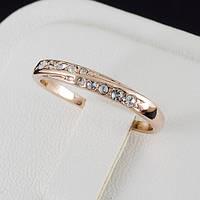 Первоклассное кольцо с кристаллами Swarovski и c позолотой 0440