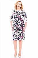 Женское стильное платье в цветочный принт