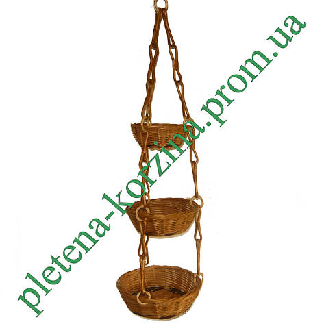 Цветочник подвесной трехярусный Арт.288, фото 2