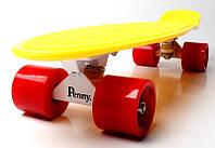 Penny Board. Желтый цвет. Красные колеса