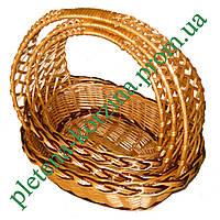 Набор плетеных корзин «Кобра» овальная из 3шт. Арт.305-3