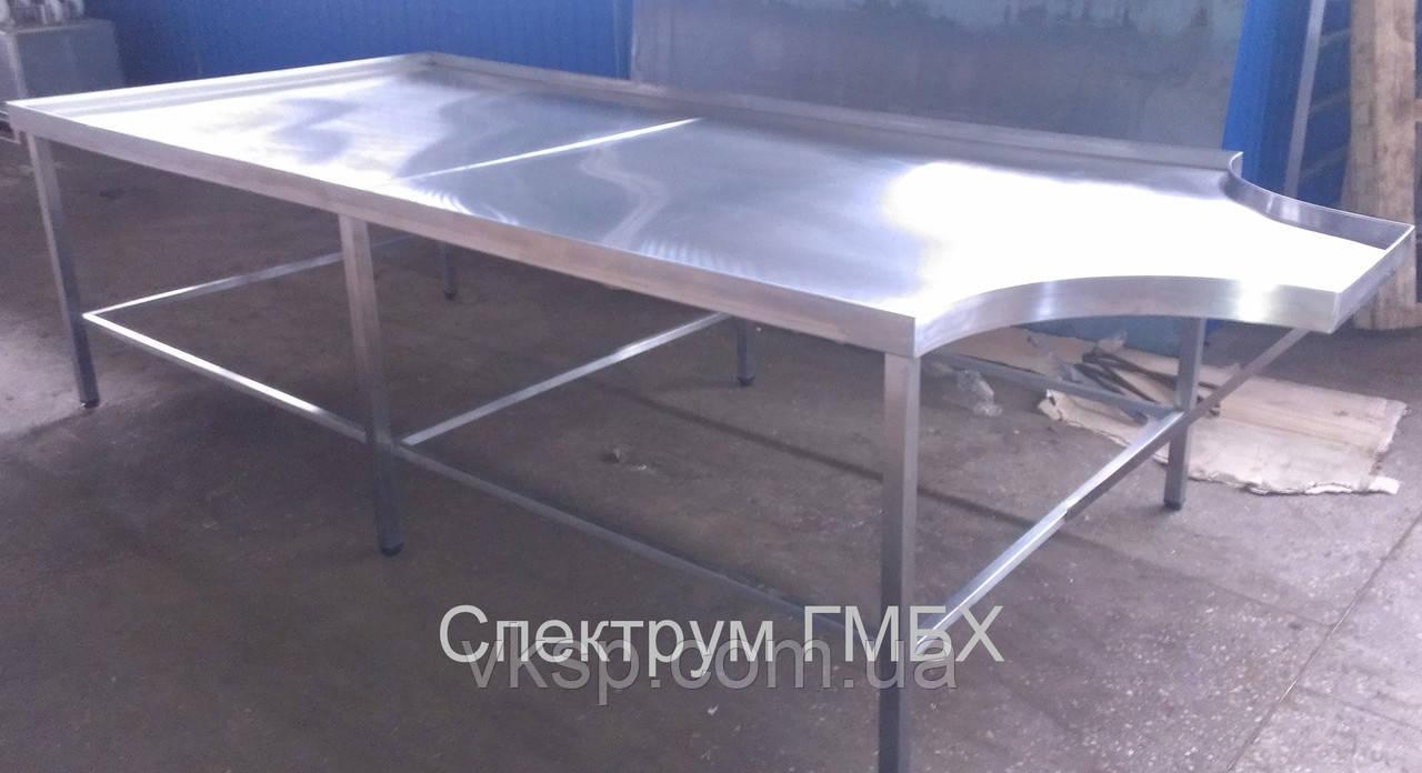 Формовочный стол 3300х1400 из нержавеющей стали