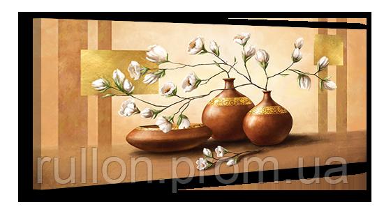 "Картина на холсте YS-Art XP055 ""Цветы в вазе"" 50x100"