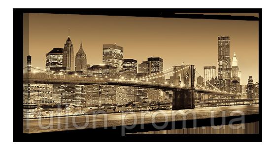 "Картина на холсте YS-Art XP062 ""Бруклинский мост, Нью-Йорк"" 50x100"