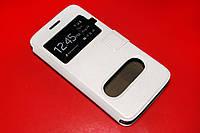 Кожаный чехол книжка для Samsung Galaxy A3 A300 белый, фото 1