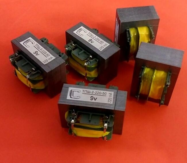 Трансформатор ТПШ-2-220-50 12В, 2Вт, 0,22А