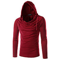 93630891cfb5 Fasfashion личности толстовки футболки мужские случайные сплошной цвет с  длинными рукавами спортивной одежды 1TopShop