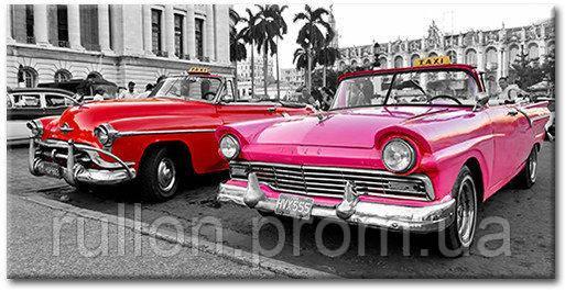 "Картина на холсте YS-Art XP081 ""Раритетные автомобили"" 50x100"