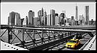 """Картина на холсте YS-Art XP156 """"Бруклинский мост с такси"""" 50x100      , фото 2"""