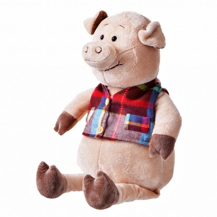 Свинка в жилетке, 45 см, «Same Toy» (THT722)