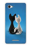 Чехол  для Sony Xperia E3 D2202/D2212 (Котики)