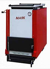 Пеллетный котел шахтного типа Маяк КТШ ECO LONG BURNING 32 кВт с горелкой «AIR Pellet» и бункером, фото 2