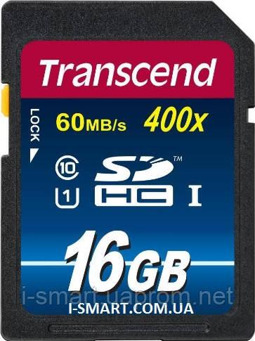 Карта памяти SDHC Card 16Gb Transcend  Class 10