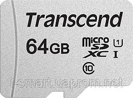 Карта памяти MicroSDHC -64Gb  Transcend Class 10