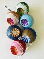 """Набор ёлочных игрушек """"Микс"""" d=10 см (6 шт.) пластик, расцветка в ассортименте"""