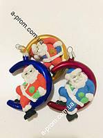 """Набор ёлочных игрушек """"Санта-Клаус"""" (3 шт.) пластик, расцветка в ассортименте"""