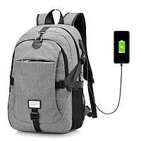 c38985d02d4f Мужчины Nylon Большая вместимость Рюкзак для ноутбука Путешествия Сумка с  USB-портом зарядки 1TopShop
