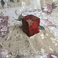 Коробка / Бонбоньерка / 60х60х75 мм / печать-Снег.Красн / б.о. / НГ, фото 1