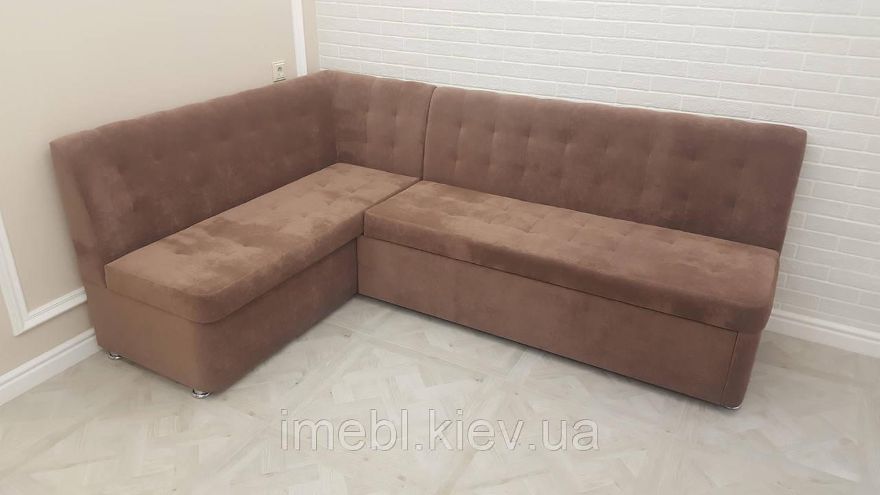 Мягкий кухонный уголок со спальным местом (Светло-коричневый)