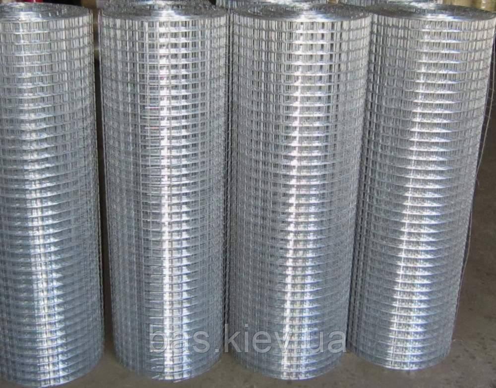 Сетка сварная метал. оцинкованная яч 25мм х 25 мм  /0,9мм 1,0*30м
