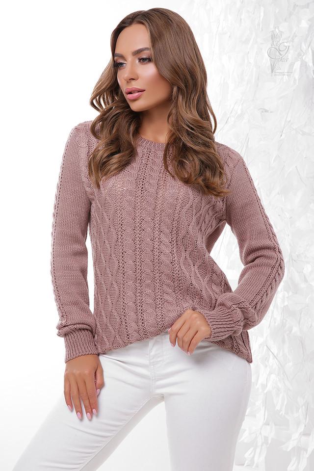 Фото Вязаного женского свитера Ингрид-11