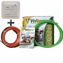 Теплый пол Volterm двухжильный кабель 11.7 м² 94 м 1700 Вт под плитку и стяжку HR181700, КОД: 146056