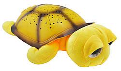 Проектор звездного неба Night Turtle Черепаха музыкальная Yellow
