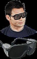 Очки защитные сетчатые REIS Серый с черным, КОД: 295121