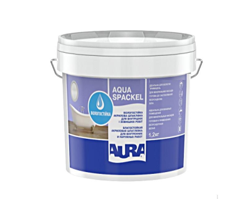 Шпатлевка акриловая AURA LUXPRO AQUA SPACKEL влагостойкая 1,2кг