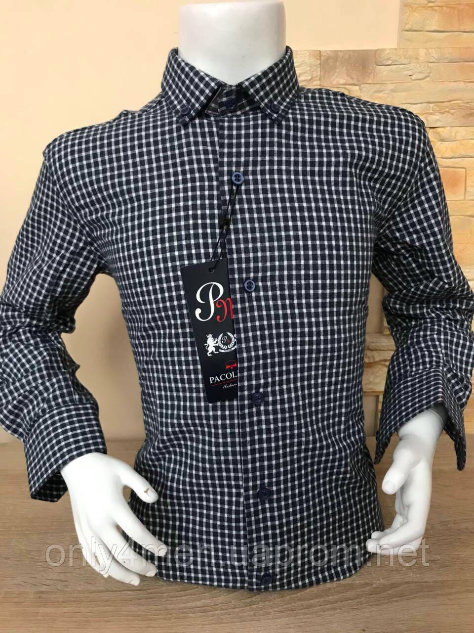 Рубашка для мальчиков с длинным рукавом  7-12 лет