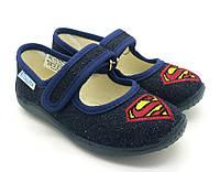Детские домашние тапочки (23-27) Виталия супермен, фото 1