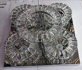 Светодиодная потолочная LED люстра 8295 - 450 цвет хром