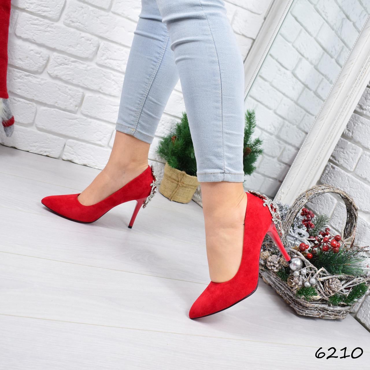 1f74c86ad7398f Туфли женские на шпильке в стиле Casadei красные 6210 , женская обувь, цена  490 грн., купить в Днепре — Prom.ua (ID#845020935)