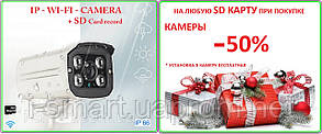 Ip wifi camera 720p + sd record + запись звука акция sd card