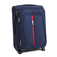 Большой тканевый чемодан Wings 1706 на 2 колесах синий