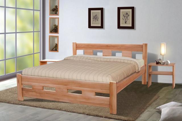 Кровать двуспальная Space бук натуральный
