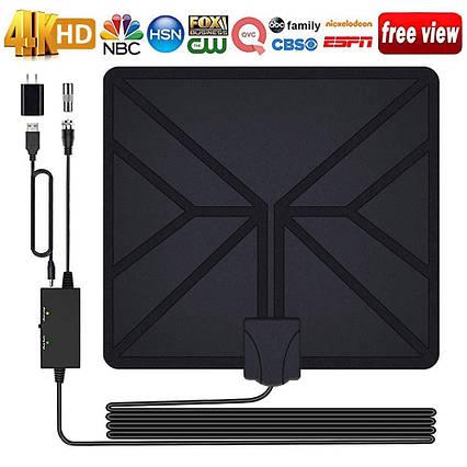 HDTV Цифровая антенна с усилением поддержка 4K HD 1080P ОВЧ УВЧ, фото 2