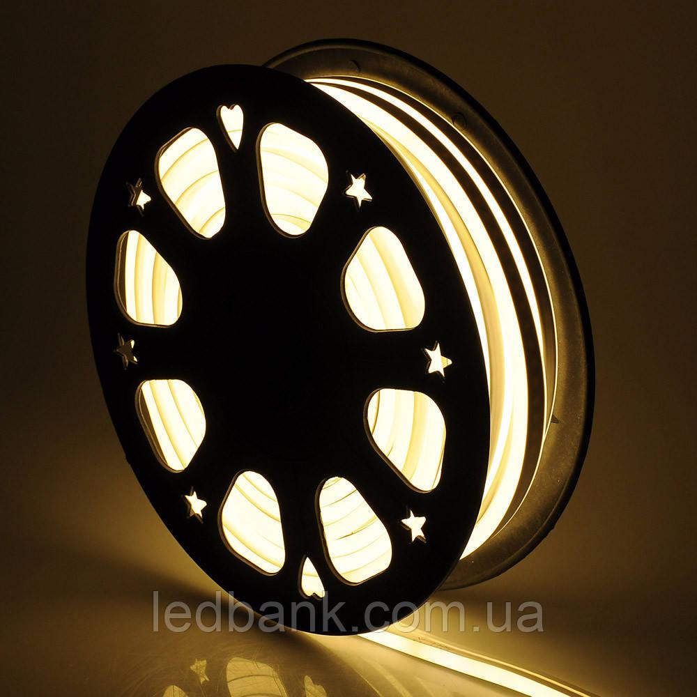 Світлодіодний гнучкий неон 12В 2835 120 LED Neon Flex IP65 Теплий білий