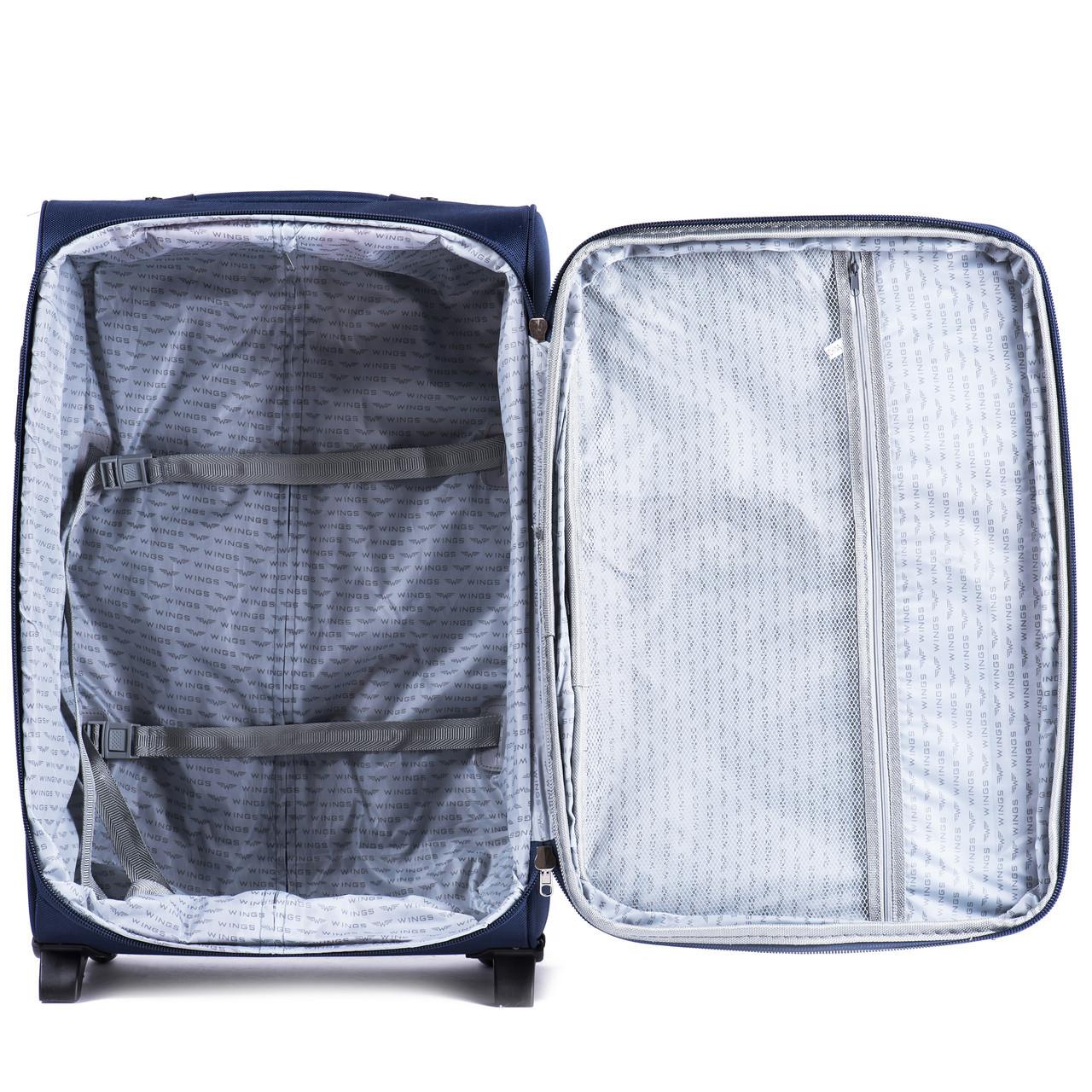 Средний тканевый чемодан Wings 1706 на 2 колесах  продажа, цена в ... f23538c8bdf