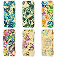 Чехол Beautiful plants case (TPU) для Apple iPhone 6 (7 видов), фото 1