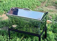 Коптильня большая двух-ярусная с гидрозатвором из нержавеющей стали (520x300x280) продам пост.опт и в розницу, фото 1