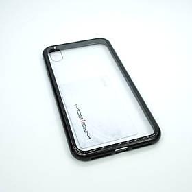 """Чохол з магнітною засувкою Metal + Glass Apple iPhone Xs Max {6.5 """"}"""