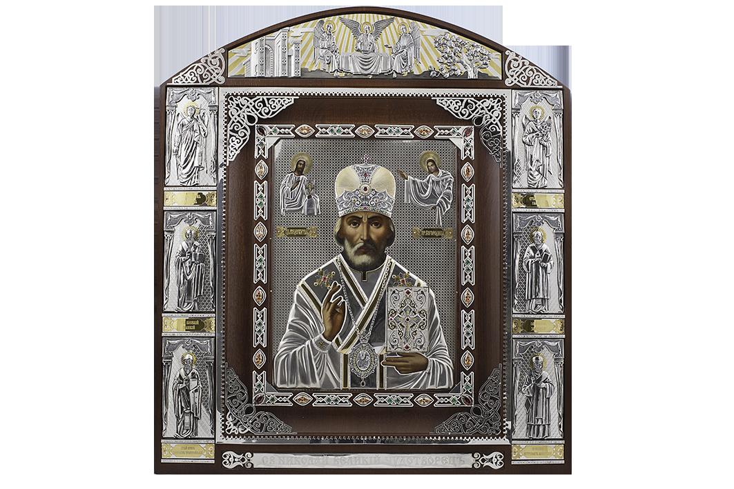 Серебряная Икона Святой Николай Чудотворец