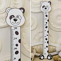 Деревянный ростомер: Панда