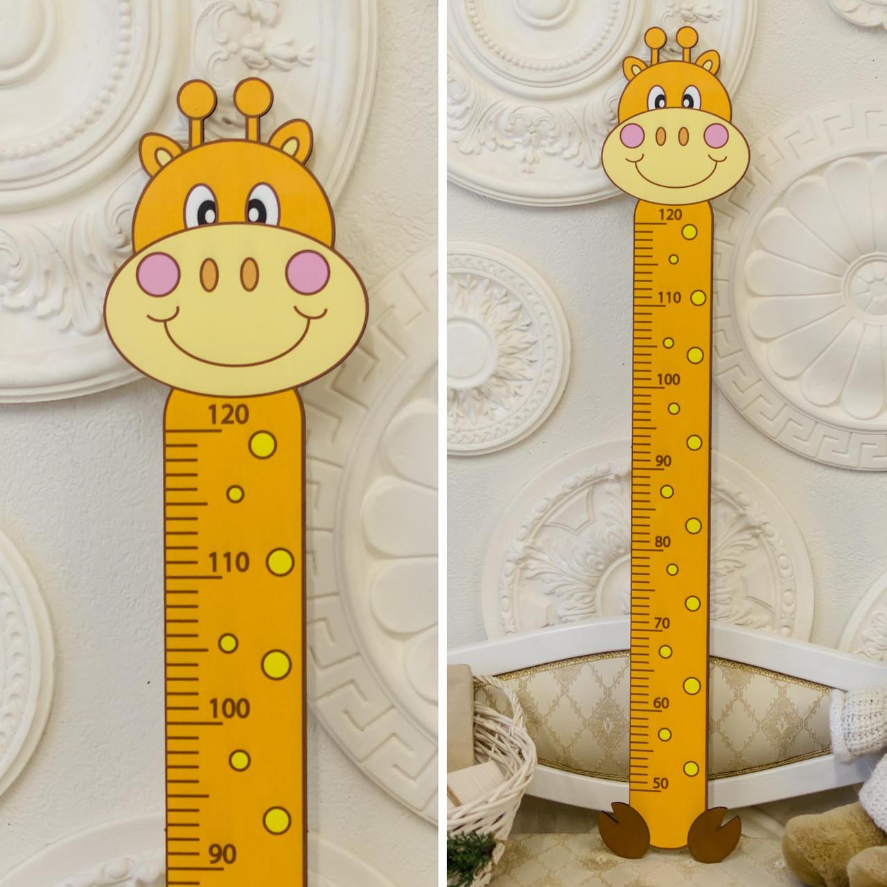 Деревянный ростомер: Жираф