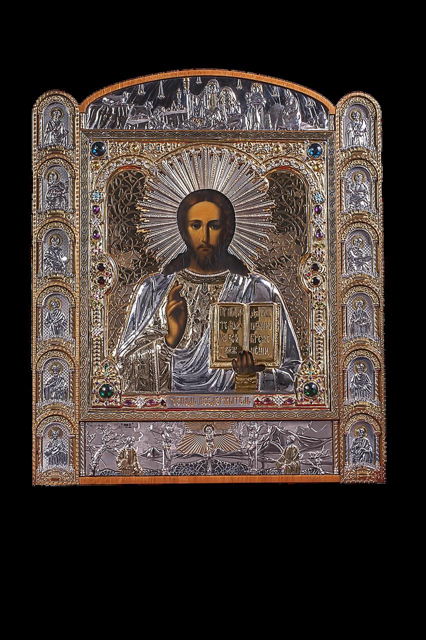 Серебряная Икона Господь Вседержитель