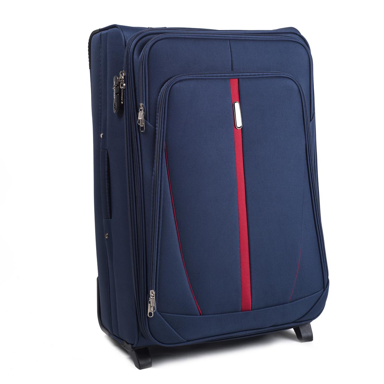 Малый тканевый чемодан Wings 1706 на 2 колесах синий