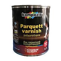 Лак паркетний поліуретановий KOMPOZIT  0,7л шовковисто-матовий