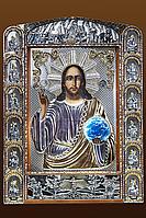 Серебряная Икона Господь Вседержитель, фото 1
