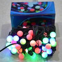 Новогодняя гирлянда Шарики 4 цвета 40 ЛЕД 25мм.